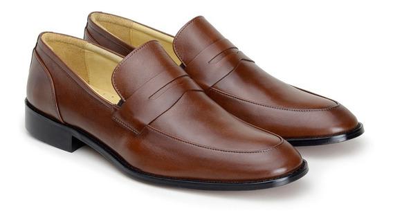Sapatos Masculinos Social Pelica Roma Whisky
