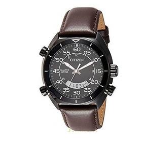 Relógio Pulseira De Couro Citizen Quartzo Ana-digi Jm5475-03