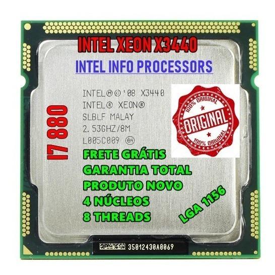 Processador Intel X3440 2.93ghz 1156 Core I7 870 + Brinde