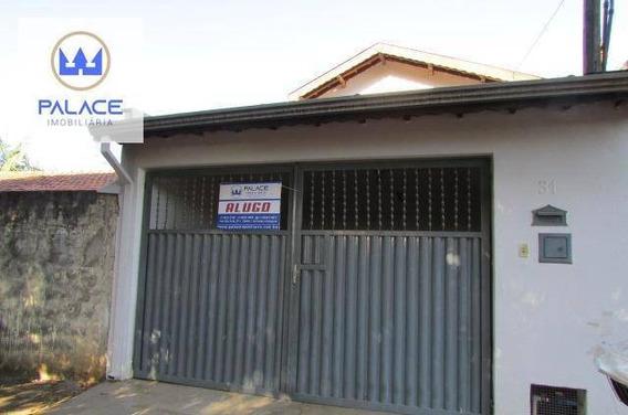 Casa Com 2 Dormitórios Para Alugar, 87 M² Por R$ 850/mês - Loteamento Santa Rosa - Piracicaba/sp - Ca0311