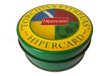 Lata Porta Copos Torcida 6 Estrelas Hipercard - Menor Preço
