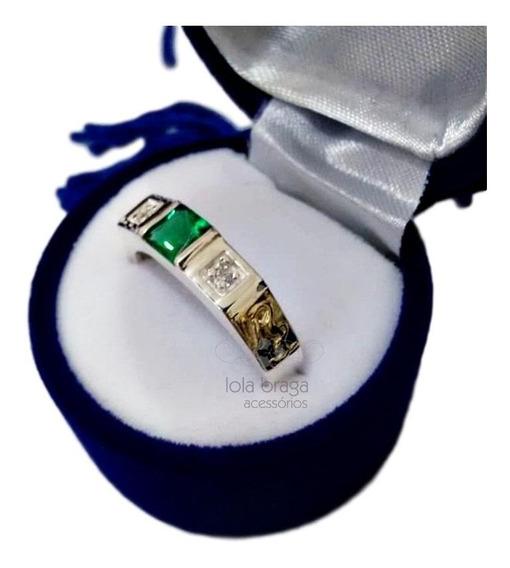 Anel Formatura Masculino Prata Símbolos Oficiais Ouro 18k