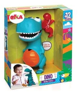 Boneco Dinossauro Didático - Dino Papa Tudo - Elka