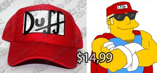 Imagen 1 de 5 de Gorra Series Los Simpsons Duff (tienda Friki)