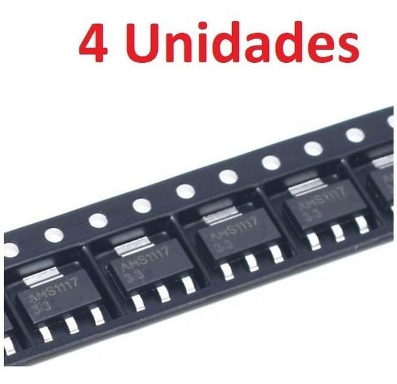 4 Unidades Ams1117 Regulador 1,5v