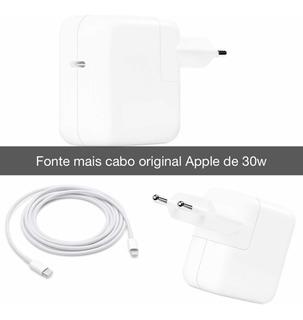 Fonte E Cabo Carga Rápido De 30w Para iPhone 8 A Xs Max