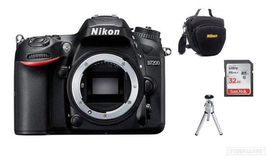 Câmera Nikon D7200 (somente Corpo)+32gb+bolsa+tripé