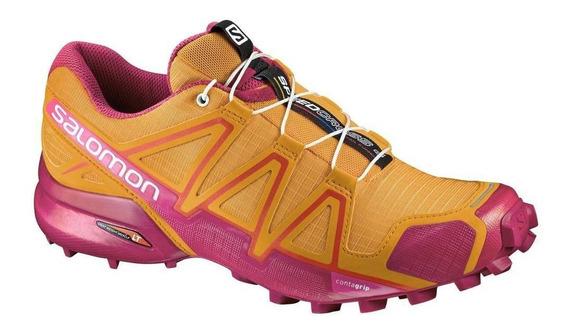Tênis Salomon Speedcross 4 Fem - Laranja/rosa