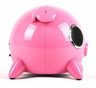 Bocina Bluetooth Pig Rosa Touch Usb Mp3 Amethyst A1bt