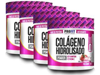 4x Colágeno Hidrolisado 150g - Betacaroteno + Vit C - Profit