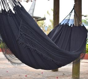 Rede De Descanso Dormir Casal Algodão Preta