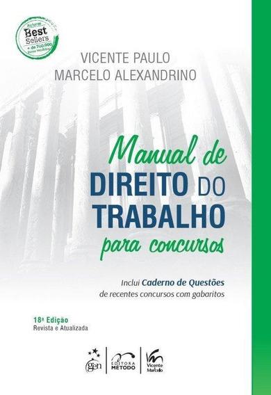 Manual De Direito Do Trabalho Inclui Caderno D