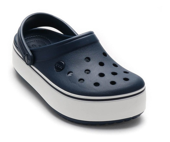 Crocs Crocband Platform Mujer- Blue White