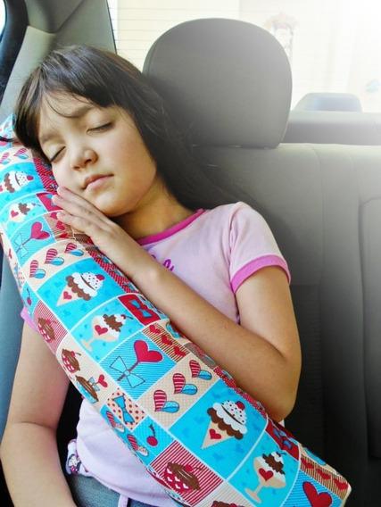 Almofada Protetor Cinto De Segurança Pescoço Carro Viagem