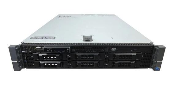Servidor Dell R710 8gb Ram, 2 Xeon Quadcore 2 Hds Sas 146gb