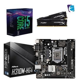 Kit 8ª Geração I5 8600k S/cooler H310m-hg4 Hyperx 16gb 2x8