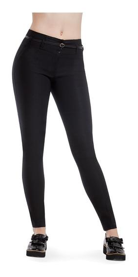 Pantalon Dama Color Negro De Vestir Devendi Denim Co.