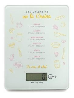 Balanza Digital Cocina Electrónica 3 Kilos Funcion Tara Led