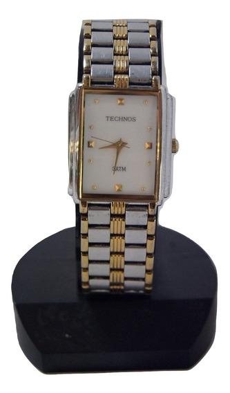 Relógio De Pulso Technos Prateado E Dourado