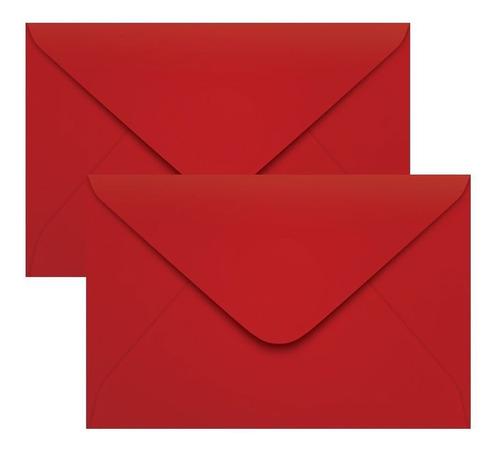 Imagem 1 de 1 de Envelope Para Convite De Casamento Vermelho 160x235mm 100un