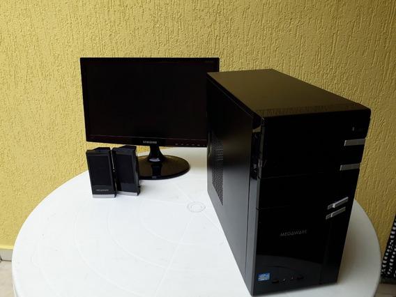 Computador Intel I3-3220 8gb Ddr3 Com Monitor E Caixa De Som