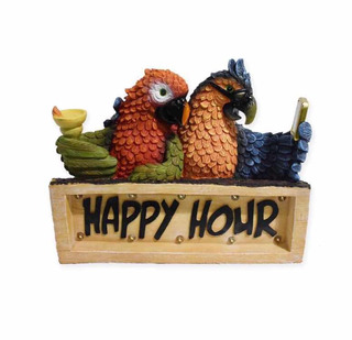 Happy Hour Parrots Led Solar Powered, Hora Feliz Solar