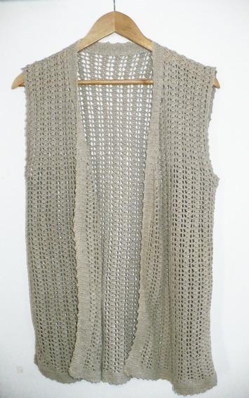 Chaleco Tejido Crochet Vintage Hilo Mujer