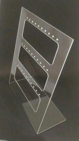 Expositor Acrílico Para Brinco Vazado 26,5cm Altura X 22cm