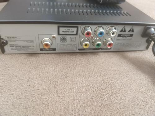 Imagem 1 de 3 de Dvd Semp Sd-4071u Usb Com Controle Original