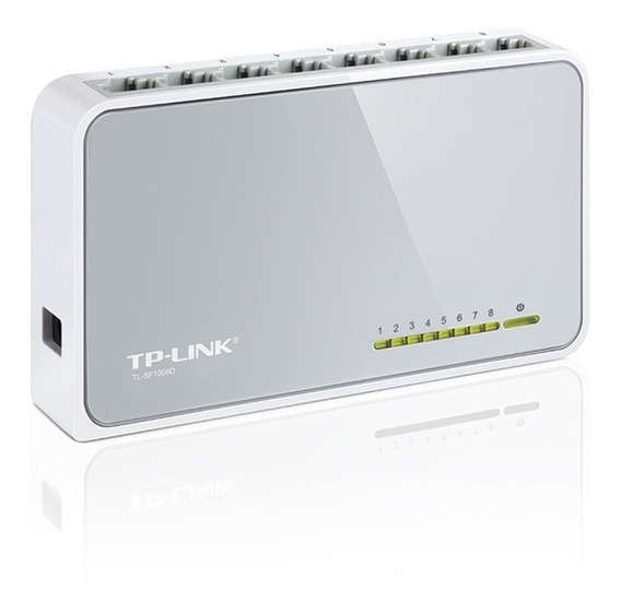 Switch Tp-link 8 Bocas Puertos Tl-sf1008d 10/100