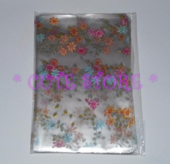 Saco Saquinhos Floral Florzinhas Florido Plástico 10 X 14