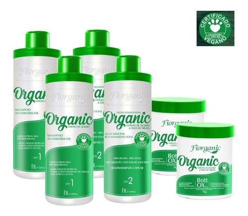 Imagem 1 de 3 de Escova 0% Formol 1 L + Bott Ox 1kg - 2 Kits - Fiorganic