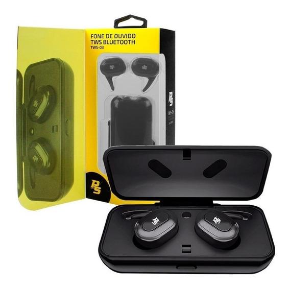 Fone De Ouvido Bluetooth Preto Tws Da Performance Sound + Nf