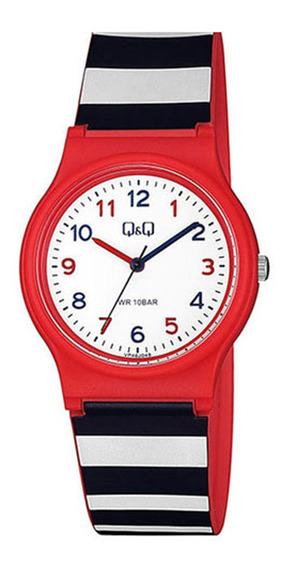 Relógio Infantil Feminino Vermelho E Azul Q&q Prova D