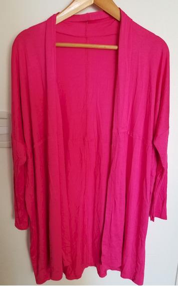 Saco -camisa- Kimono Modal Con Licra Amplio Fucsia