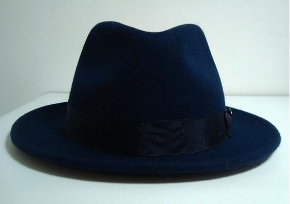 Sombrero Fedora 100% Lana Marca Bailey Of Holywood Azul