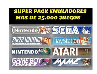 Pack Emuladores Mas De 30.000 Juegos Nes Family Mame Sega