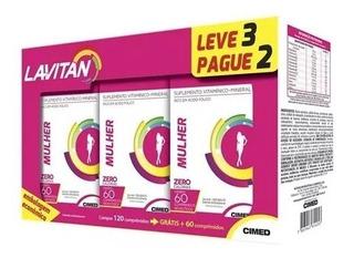Kit Lavitan Mulher 3 Frascos 60 Comprimidos