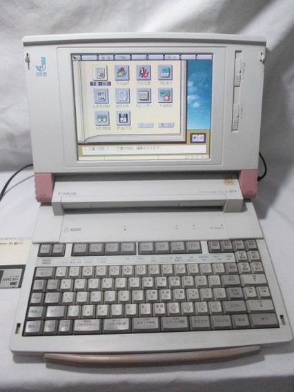 Antigo Wapuro Notebook Canon J1v Computador Antigo