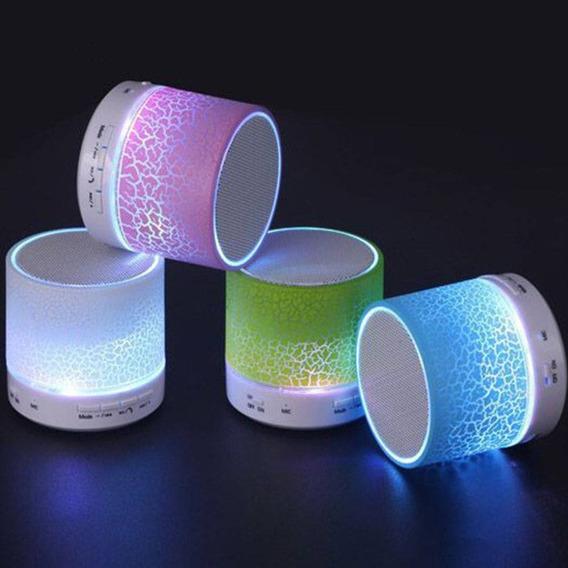 Caixinha De Som Led Sem Fio Recarregável A12 Celular Usb P2