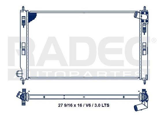 Radiador Agua Mitsubishi Outlander V6 3.0l 2007-2008