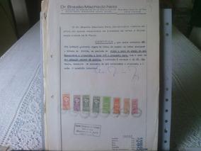 106 - Documento Com Selos De Fiscais Do Brasil