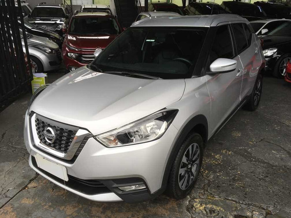 Nissan Kicks Sv Limited 1.6 Flex 2017 Prata Top De Linha
