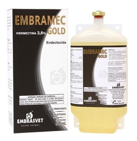Vermífugo Embramec Gold 500ml - Ivermectina 3.6g