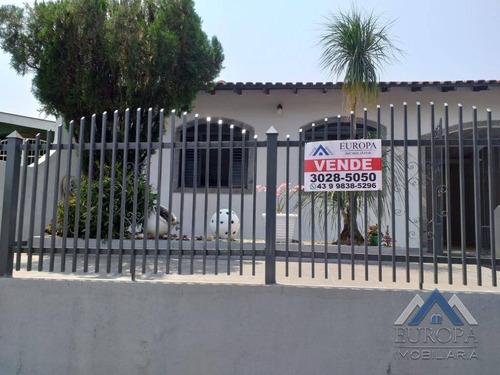 Imagem 1 de 16 de Casa Com 3 Dormitórios À Venda, 194 M² Por R$ 355.000,00 - Bandeirantes - Londrina/pr - Ca0512