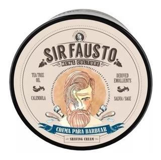 Crema De Barbear Mentolada Premium Sir Fausto X 200 Afeitar