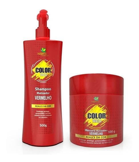 Kit Color Red Habito Cosméticos Matizador Capilar Vermelho