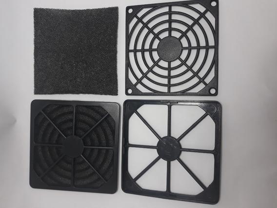 Grade Protetora Com Filtro Para Microventilador Cooler 80mm