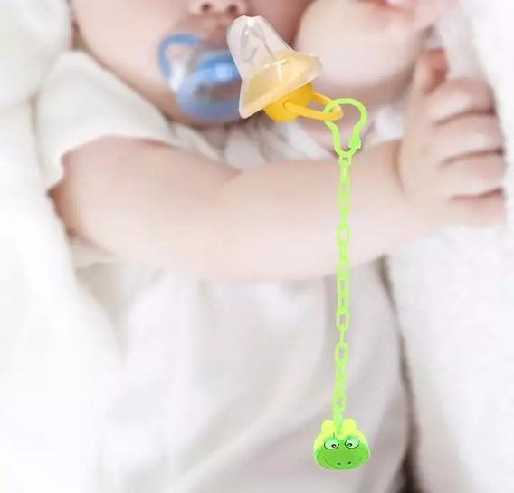 Prendedor De Chupeta Verde Sapinho Bebe Sapo Verde