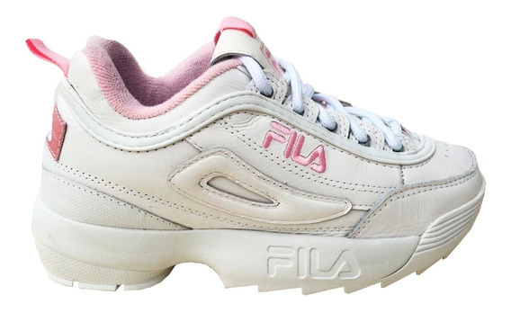 Zapatillas De Mujer Disruptor En Blanco Y En Rosa Bebe